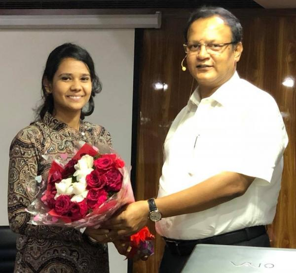 SURABHI SHEKHAR, 1st RANK IN TRIPURA JUDICIAL EXAMS, 2018, WITH RAHUL SIR.