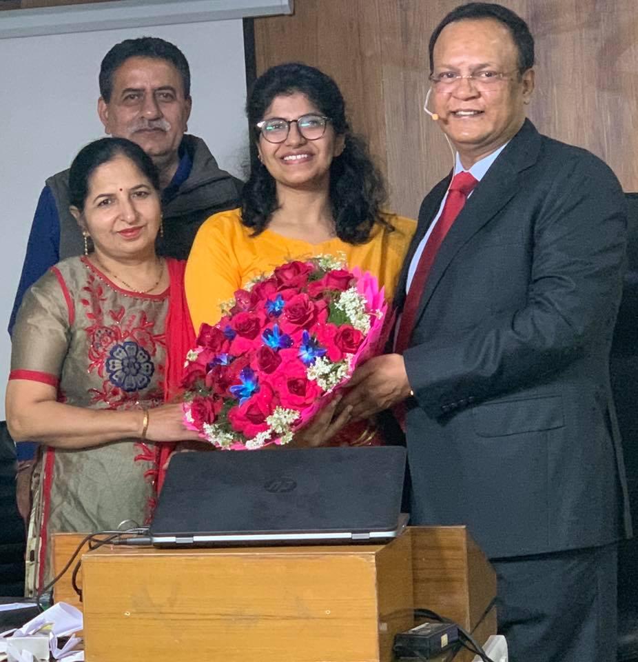 Deeksha Madaan 3rd rank in Rajasthan Judiciary Exams2019.