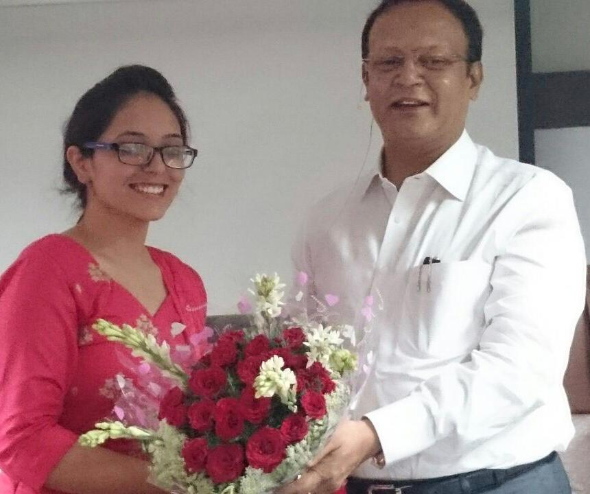 ROSY DAHIYA, 2nd RANK IN HP JUDICIAL EXAMS,2016, WITH RAHUL SIR.