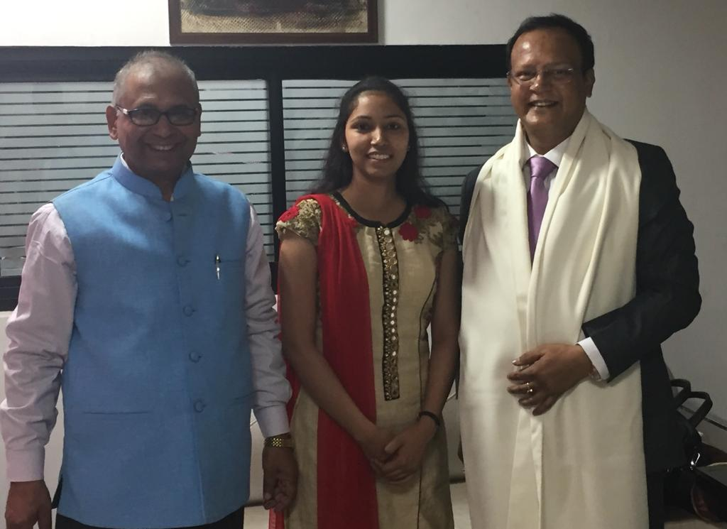 RAHUL SIR,WITH RITWIKA SINGH,14th RANK IN JHARKHAND JUDICIARY-2014, WITH HER FATHER.