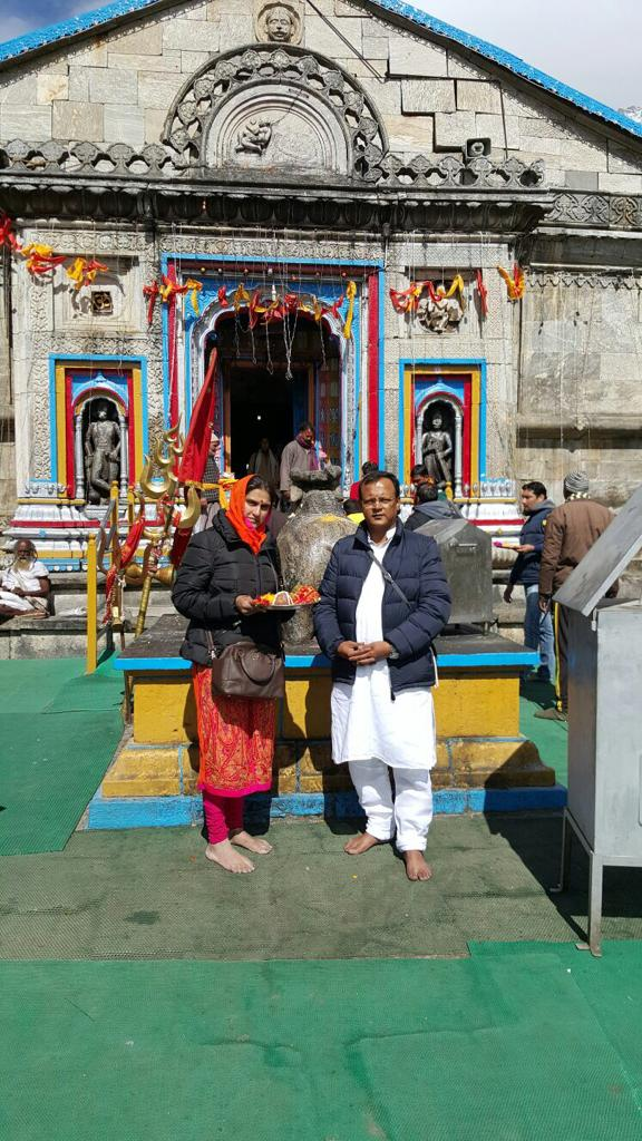 RAHUL SIR AT KEDAR NATH TEMPLE.